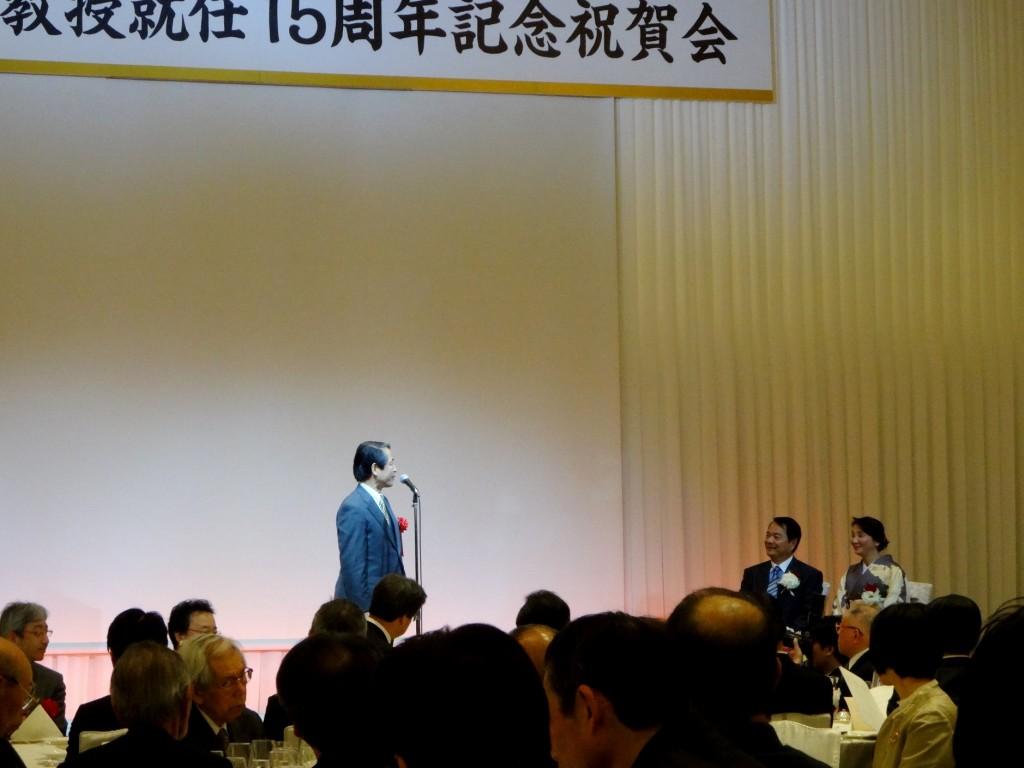 谷本光音教授就任15周年記念祝賀会(槇野博史先生御祝辞)